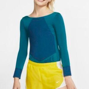 NIKE Girl Dri-Fit Long Sleeve Bodysuit Leotard